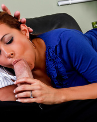 Penelope Piper fucks and sucks a huge cock in the office