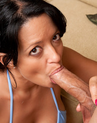 Sexy Latina Mason Storm cheats on her husband by sucking and fucking a young cock.