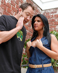 Kendra Secrets takes a hard young cock