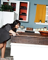 """Eva Karera has been sneaking treats from the fridge in the middle of the night. One night, her boyfriend Evan Stone catches her in the act. """""""