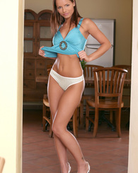 Kari shows off her tight body and spreads her sweet pink